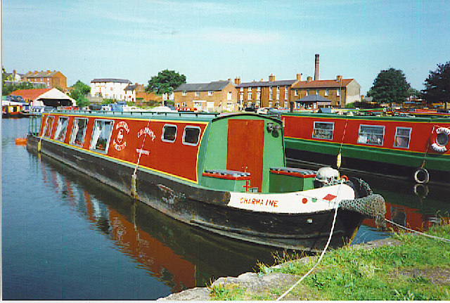 Narrowboat in the basin at Stourport-on-Severn