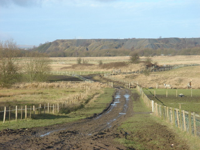 Pit Spoil Heaps at Over Hulton
