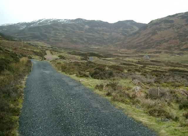 The Hydro Board track beyond the Lednock reservoir