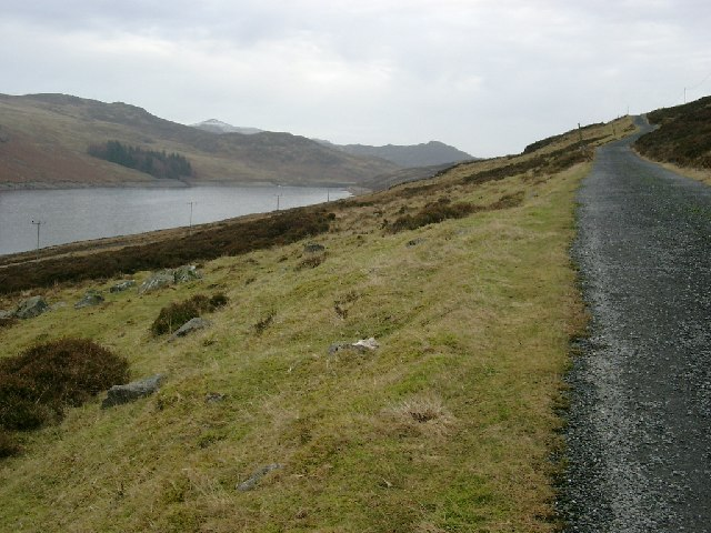 The Hydro track on the south west side of the Lednock reservoir