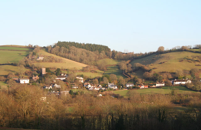 Bickleigh: Bickleigh village from the west