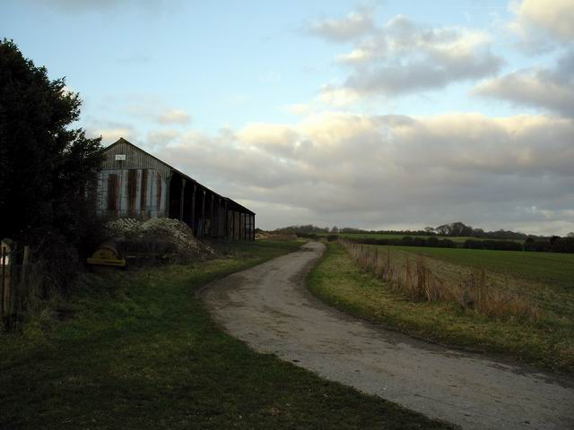 Farm buildings at Itchen Down Farm
