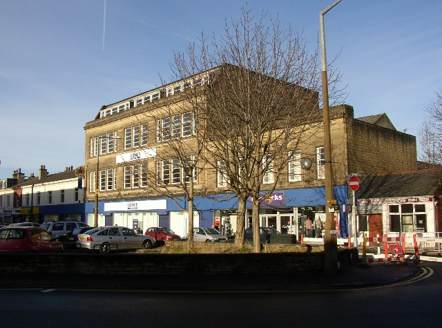 The former Co-op Department Store, King Street, Brighouse