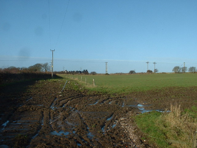 Farmland near Preesall