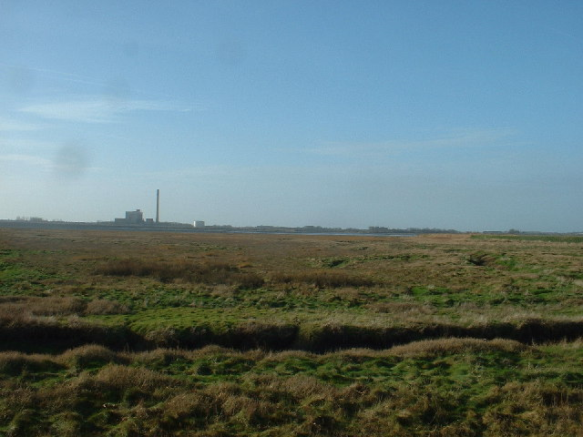 River Wyre Marshes and ICI Chemical Plant at Thornton