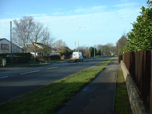 The A585 at Little Singleton