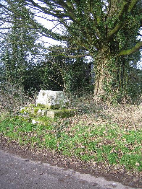 remains of preaching cross at Trellech Cross