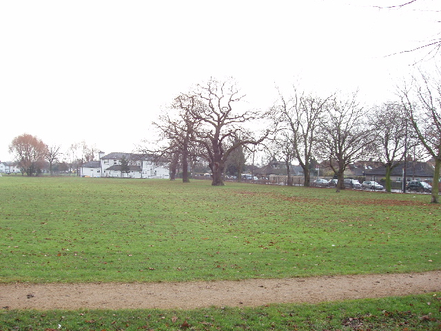 North Acton playing field, view to Westfields Road