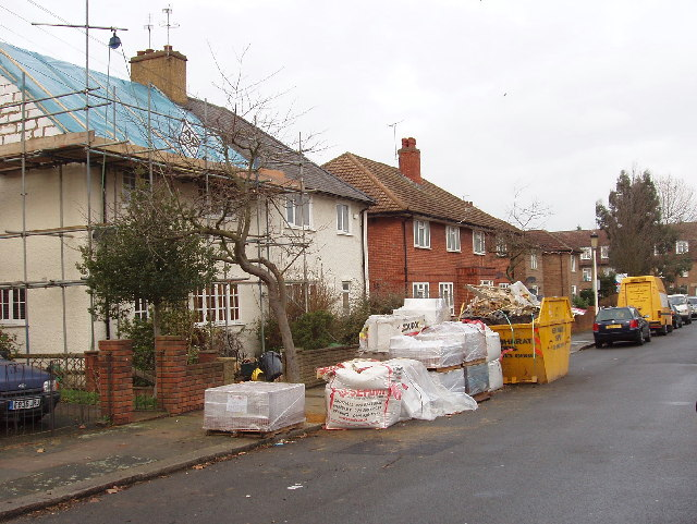 Building work in Highfield Road, North Acton