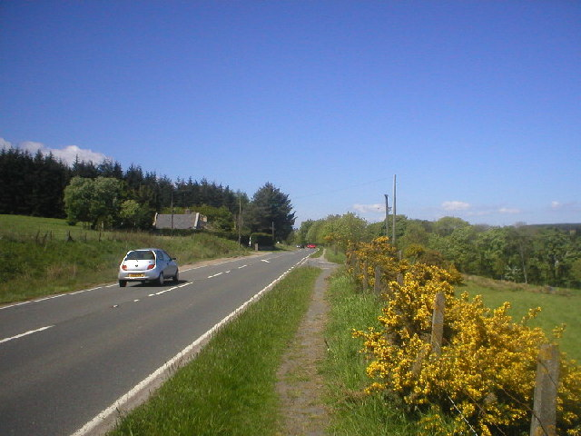 North Deeside Road near Easter Anguston