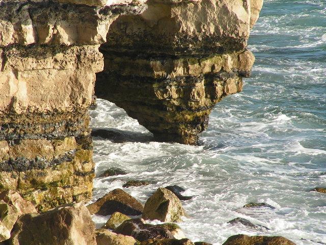 Wave erosion on a Portland Cliff