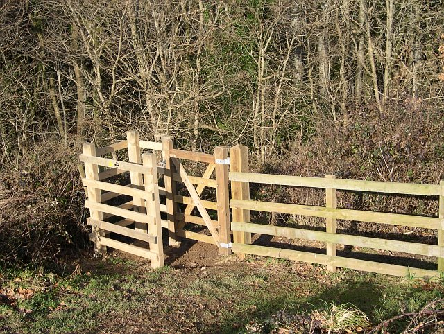 Kissing Gate above Colvithick Wood