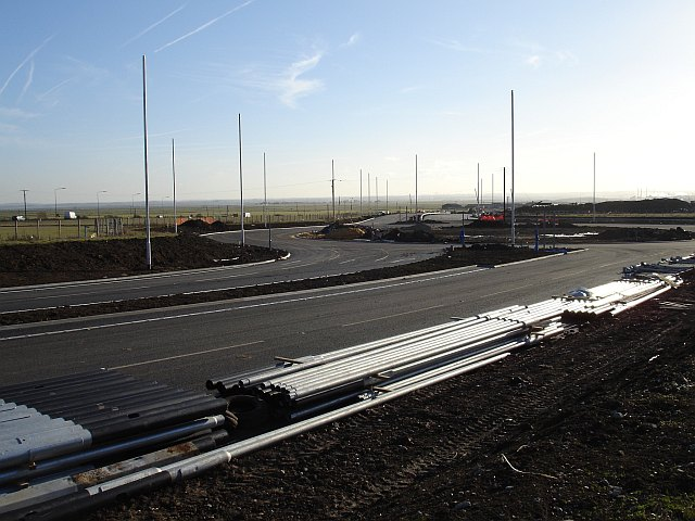 New roundabout on Sheppey