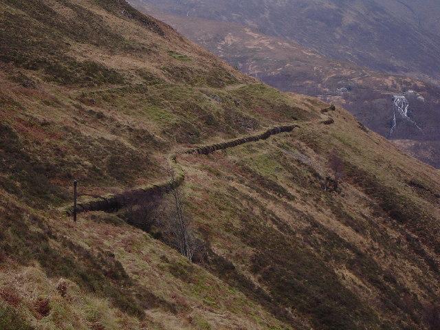 Pipeline below Loch Eilde Mor