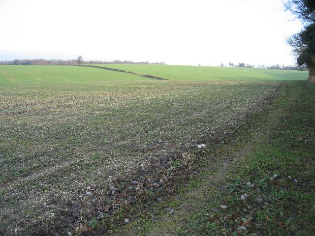 Ploughed field, looking south-east