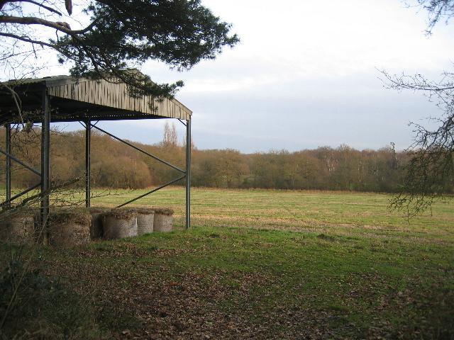 Straw storage in field