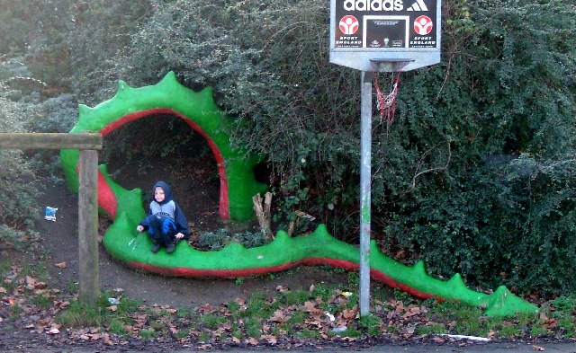 Dragon in Barnard Park.