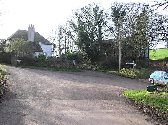 Felon's Oak, with entrance lodge to Croydon Hall