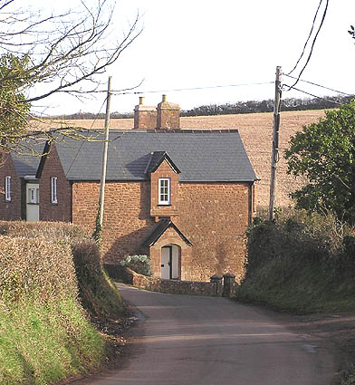 Fair Cross cottages, looking north east