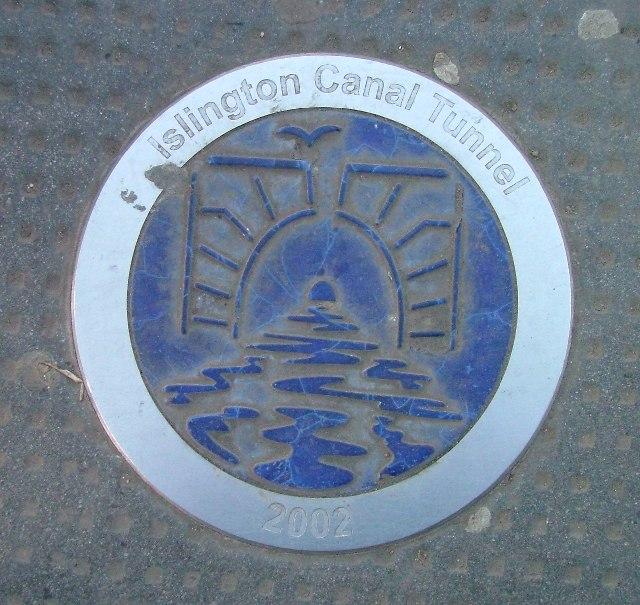 Islington Canal Tunnel plaque.