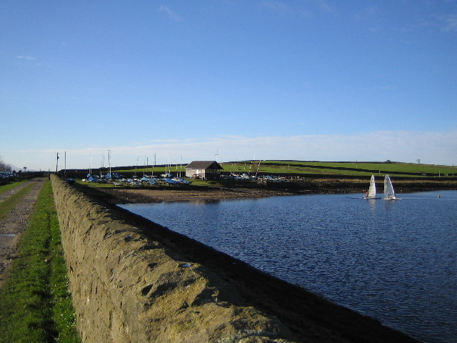 Sailing on Embsay Reservoir