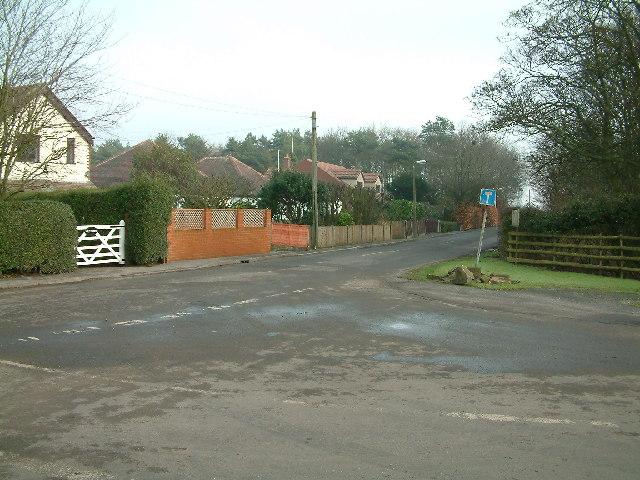 Junction of Moss Lane & Wyke Lane