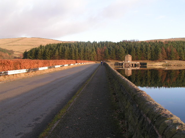 The dam, Errwood Reservoir