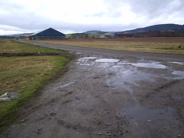 Evanton Industrial Estate, Old Airfield