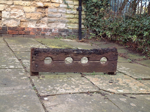 Stocks outside Redbourne Smithy