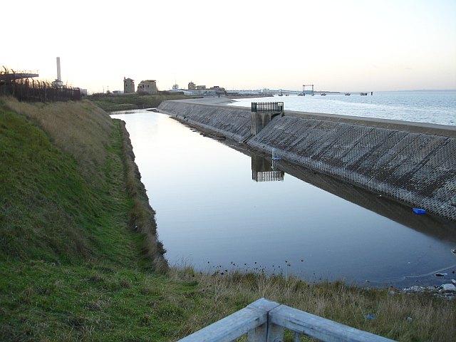 Moat at Sheerness Dockyard
