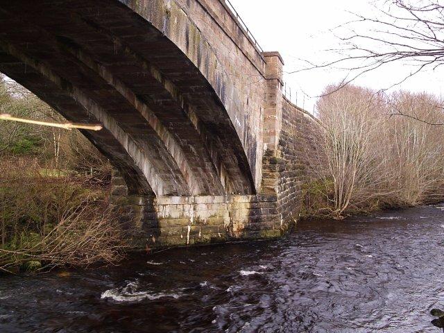 The Railway Bridge crossing the River Glass Evanton