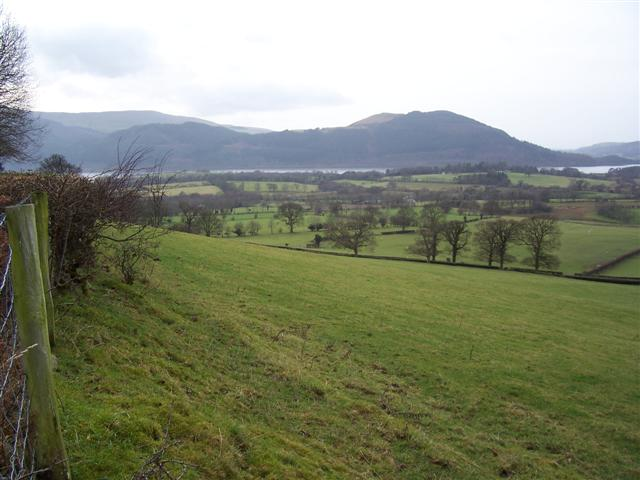 A view of Bassenthwaite Lake and Sale Fell.