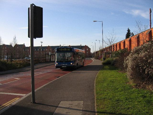 Busway at Outlet Village west carpark Swindon
