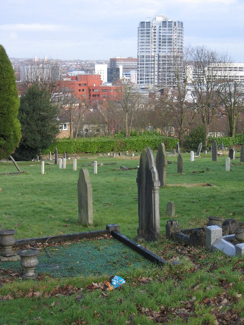 Swindon from Kingshill cemetery