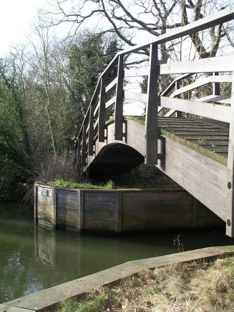 Footbridge, Thames riverside path.