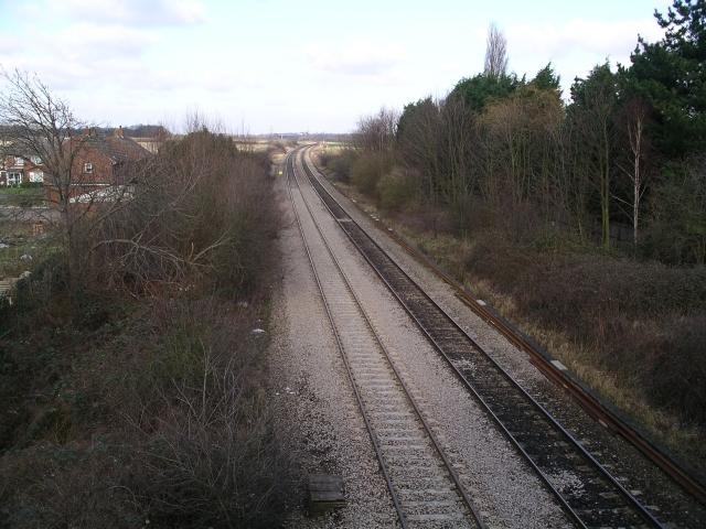 Railway lines near Radley