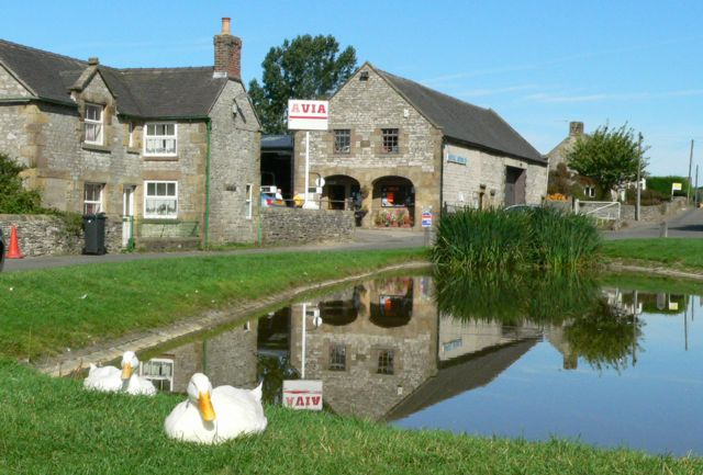 The Duck Pond, Hartington, Derbyshire.