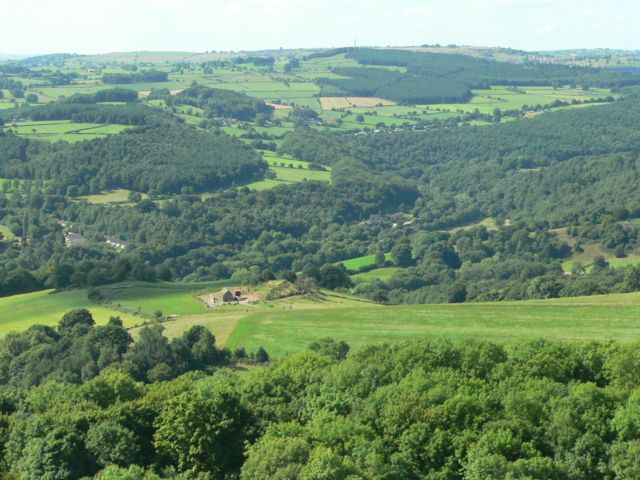 The Valley of the River Derwent, near Holloway, Derbyshire.
