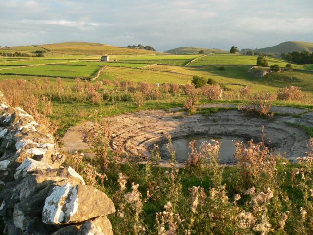 A Derbyshire Dew Pond, Near Hartington.