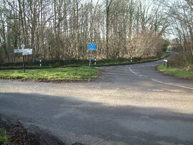Road Junction close to Gaunt's House, Dorset
