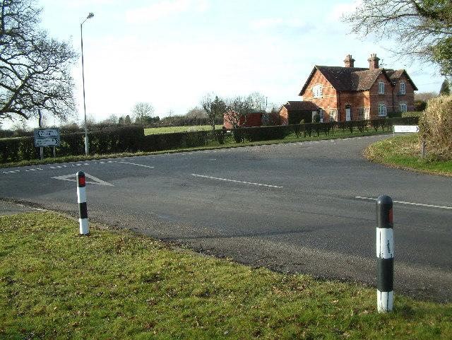 Junction close to Furzehill, Dorset