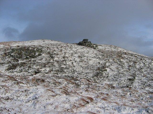 Outcrop on Beinn Leabhain.