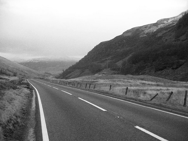 The new road, Glen Ogle.