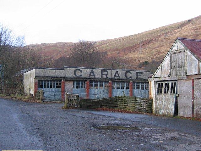 Old garage, Lochearnhead.