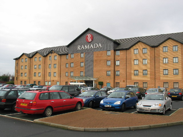 Ramada Hotel opposite Glasgow Airport.
