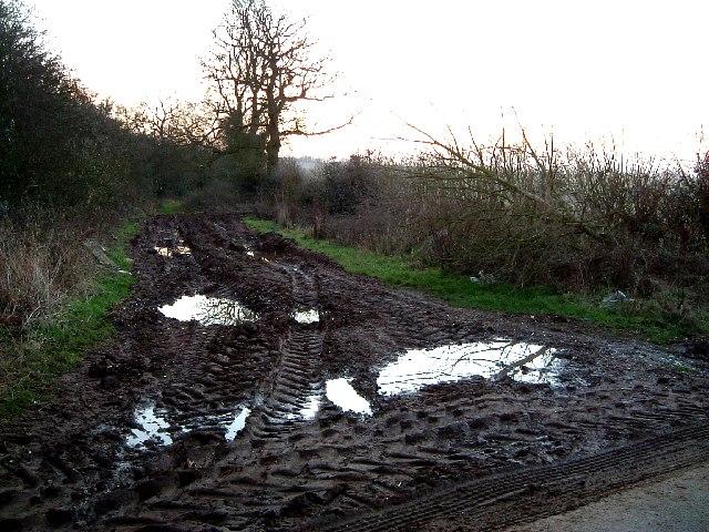 A very muddy track !