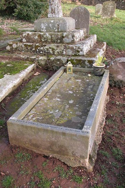 The grave of St John Kemble