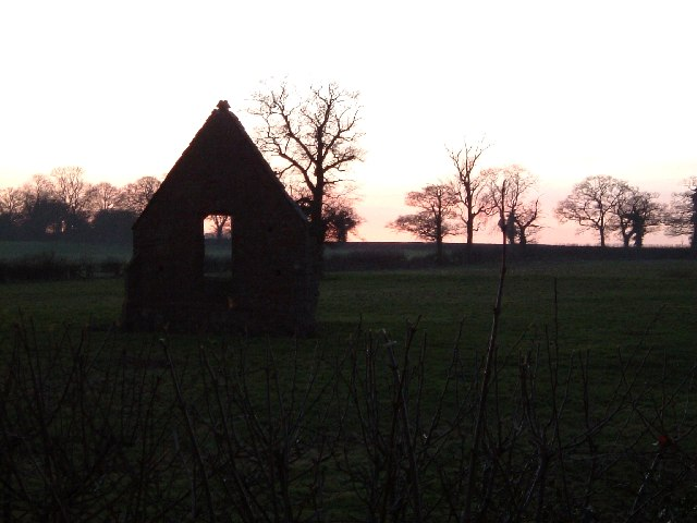 Chapel Remains, Bentley, Twilight
