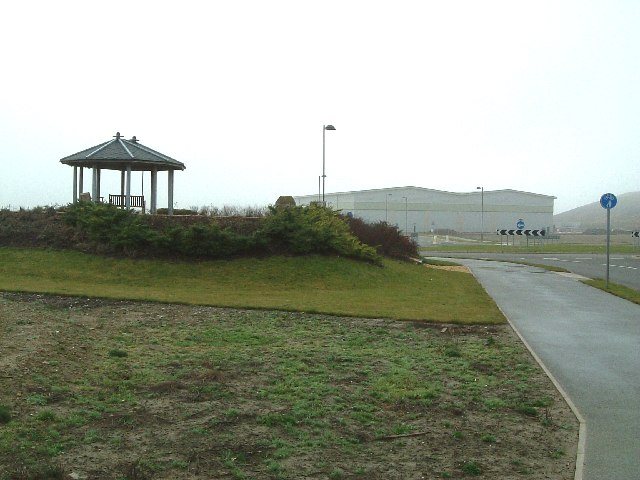 Gazebo on top of old pit shafts