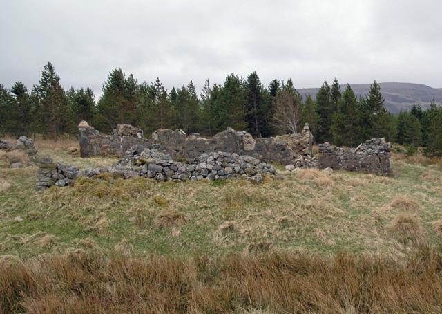Ruins of shepherd's cottage - Strathseasgaich, Assynt, Sutherland